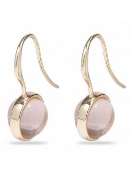 Επίχρυσα σκουλαρίκια Pilgrim με ροζ πέτρα 601822753 601822753