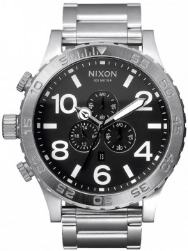 Αντρικό ρολόι Nixon Chrono Stainless Steel Black A083-000-00 A083-000-00