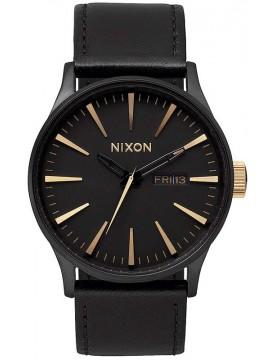 Ρολόι Nixon Senter με μαύρο δερμάτινο λουράκι A105-1041 A105-1041