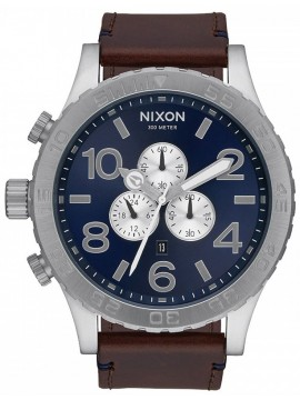 Nixon ρολόι 51-30 Chrono Brown Leather Strap A124-2301-00 A124-2301-00