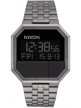 Nixon Digital Re Run Gunmetal Stainless Steel Bracelet A158-632 A158-632