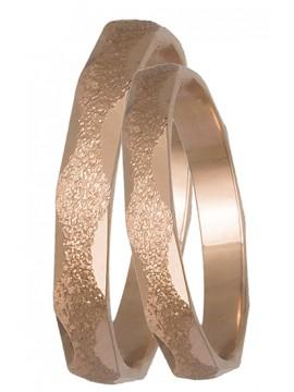 Ροζ Χρυσές βέρες γάμου 14Κ DBR0433R DBR0433R
