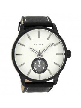 Ρολόι ανδρικό OOZOO Black Leather Strap C8213 C8213