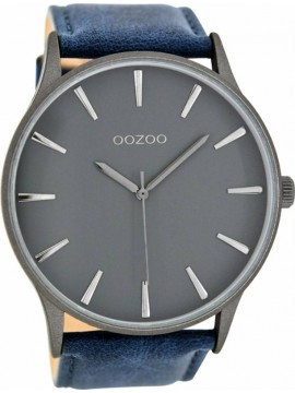 Ρολόι αντρικό OOZOO XΧL Blue Leather Strap C8231 C8231