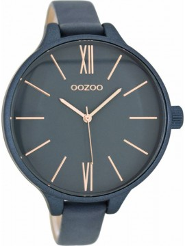 Ρολόι γυναικείο OOZOO Dark Blue Leather Strap C8403 C8403