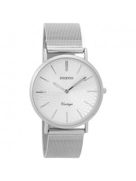 Γυναικείο ρολόι OOZOO Vintage Silver Metallic Bracelet C9341 C9341