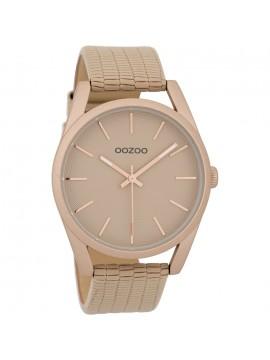 Γυναικείο ρολόι OOZOO με μπεζ δερμάτινο λουράκι C9583 C9583