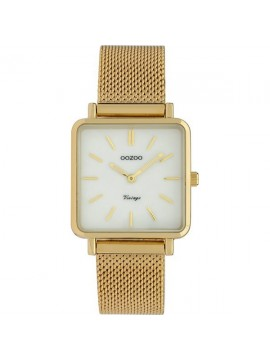 Γυναικείο ρολόι OOZOO Vintage με μεταλλικό χρυσό μπρασελέ C9843 C9843