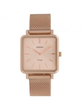Ρολόι OOZOO γυναικείο με ροζ καντράν και μεταλλικό Bracelet C9847 C9847