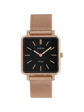 Γυναικείο ρολόι OOZOO με ροζ gold μεταλλικό μπρασελέ Vintage C9848 C9848
