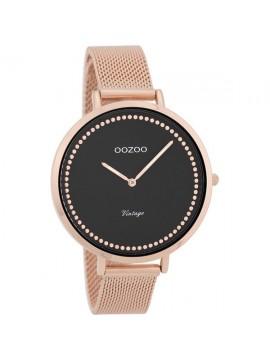 Γυναικείο ρολόι OOZOO με rose gold μεταλλικό μπρασελέ Vintage C9858 C9858