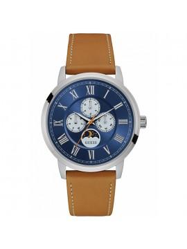 ... Αντρικό ρολόι Guess Multifunction Brown Lether Strap W0870G4 f2272b17e44