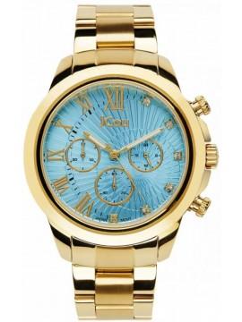 Ρολόι JCou South Coast Gold Stainless Steel Bracelet JU15041-6 JU15041-6