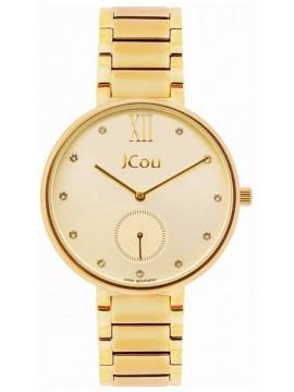 JCou Majesty Gold Crystals Stainless Steel Bracelet JU15045-2 JU15045-2