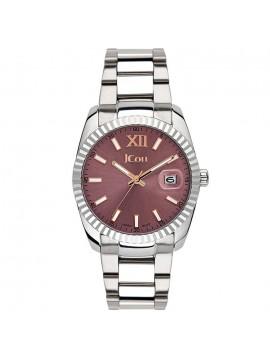 Γυναικείο ρολόι JCou Queen με ασημί μπρασελέ JU15086-0 JU15086-0