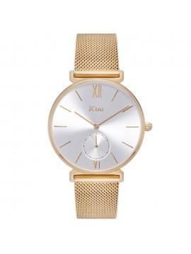 Ρολόι Jcou γυναικείο Gold Stainless Steel Mesh Bracelet JU17145-3 JU17145-3