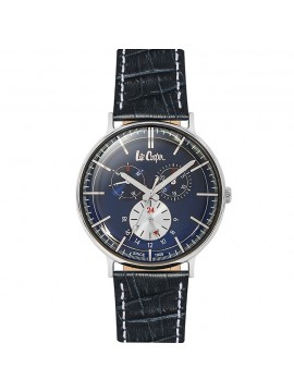 Ρολόι Lee cooper Multifunction Blue Leather Strap LC06383.399 LC06383.399