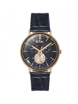 Lee cooper Multifunction Blue Leather Strap LC06383.499 LC06383.499