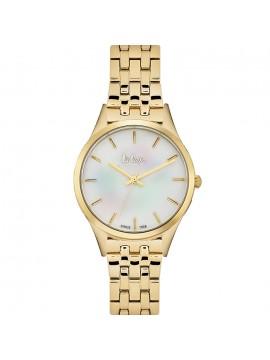 Γυναικείο ρολόι Lee Cooper Gold Metal Bracelet LC06414.120 LC06414.120