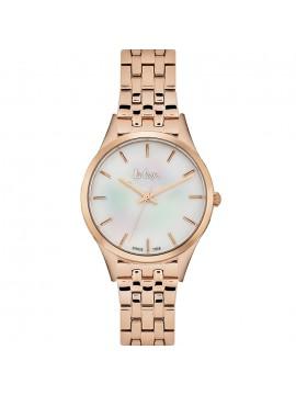 Ρολόι Lee Cooper Rose Gold Metal Bracelet LC06414.420 LC06414.420