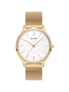 Ρολόι Γυναικείο της Le Dom Gold Stainless Steel Bracelet LD.1000-17 LD.1000-17