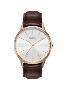 Ανδρικό ρολόι Le Dom της σειράς Classic brown leather strap LD.1001-15 LD.1001-15