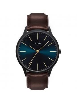 Ανδρικό ρολόι Le Dom Galaxy με καφέ δερμάτινο λουράκι LD.1001-18 LD.1001-18