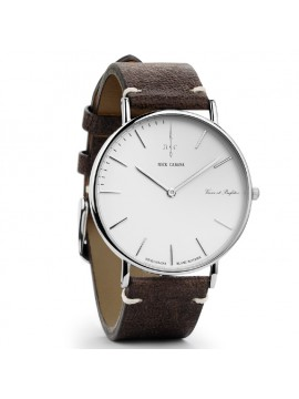 Ρολόι αντρικό Nick Cabana Blanc Boheme με δερμάτινο καφέ λουράκι NC001 NC001