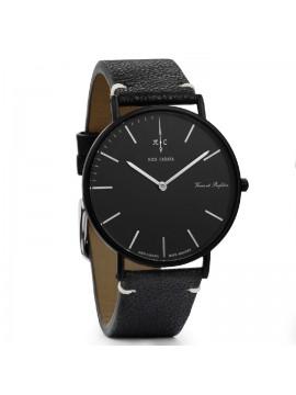 Ρολόι Nick Cabana Noir Boheme με μαύρο δερμάτινο λουράκι NC003 NC003