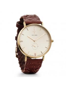 Αντρικό ρολόι Nick Cabana Talisman με καφέ δερμάτινο λουράκι NC109 NC109