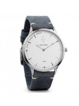 Ρολόι αντρικό Nick Cabana Nilaya Marina Grey Leather Strap NC203 NC203