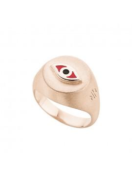 Ροζ επίχρυσο Ring Eye Honor SR042PR SR042PR