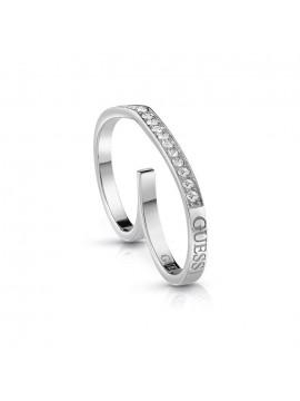 Δαχτυλίδι διπλό Guess Steel με πέτρες UBR28003-54 UBR28003-54
