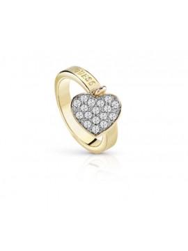 Δαχτυλίδι επίχρυσο Guess με κρεμαστή πετράτη καρδούλα UBR84017-54 UBR84017-54