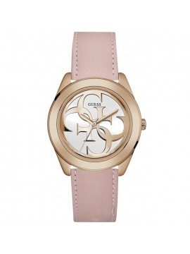 Γυναικείο ρολόι Guess Rose Gold Pink Leather Strap W0895L6 W0895L6