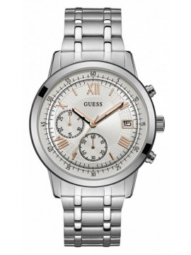 Guess ρολόι Chronograph Silver Stainless Steel Bracelet W1001G1 W1001G1
