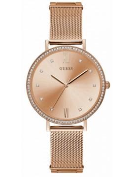 Ρολόι GUESS γυναικείο Crystals Rose Gold Stainless Steel Bracelet W1154L2 W1154L2