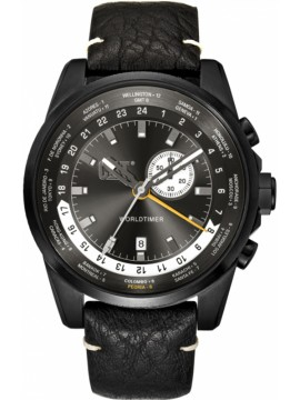 Αντρικό ρολόι Caterpillar Worldtimer Black Leather Strap WT16534522 WT16534522