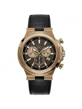Ρολόι Guess ανδρικό Chronograph Black leather strap Y23012G2 Y23012G2