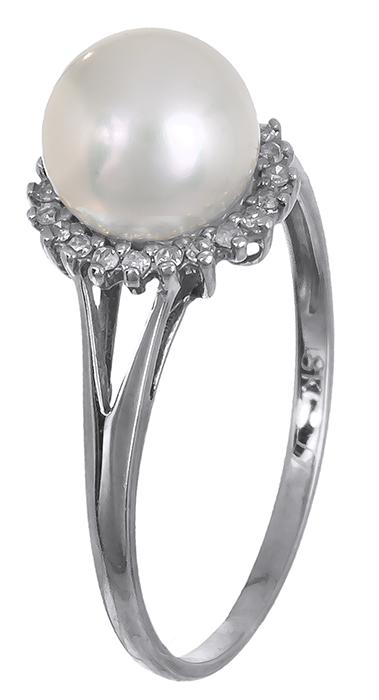 Δαχτυλίδι 18Κ με μαργαριτάρι και διαμάντια D011972 - Dimasis.gr b7bb8fc14eb