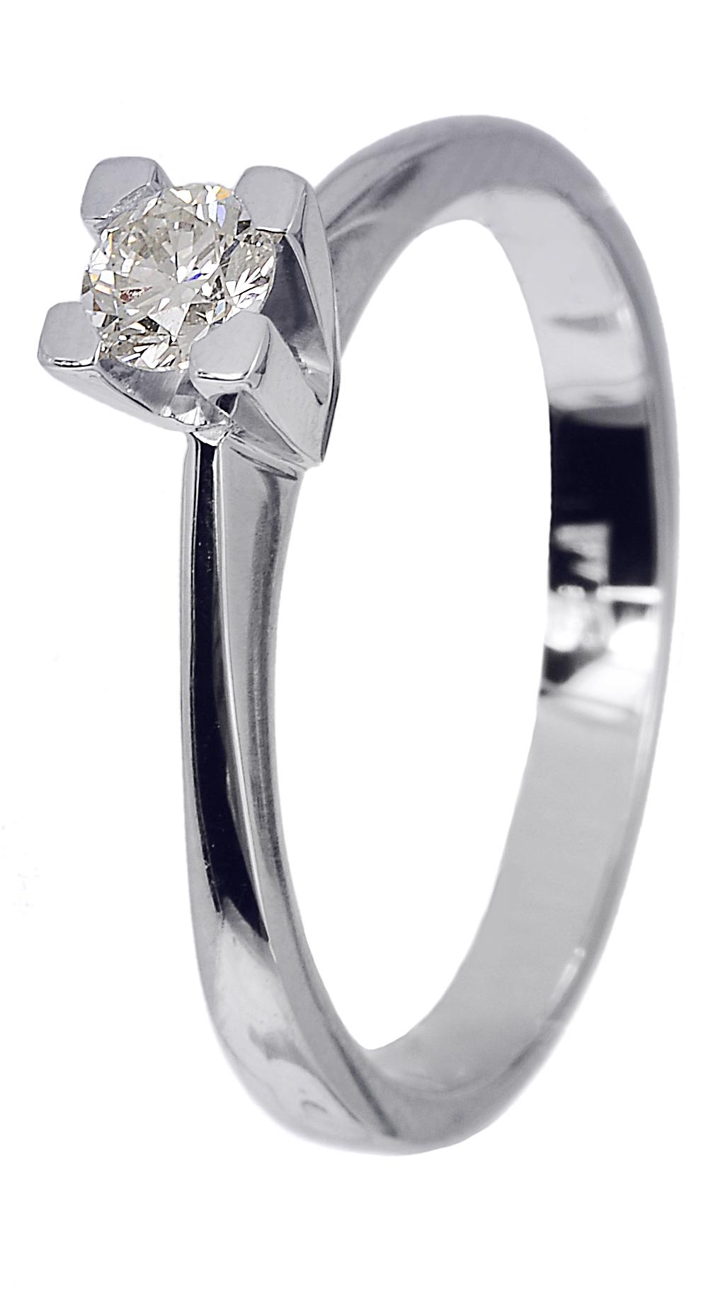 Μονόπετρο δαχτυλίδι αρραβώνα με μπριγιάν D018740 - Dimasis.gr e194d4aaa43