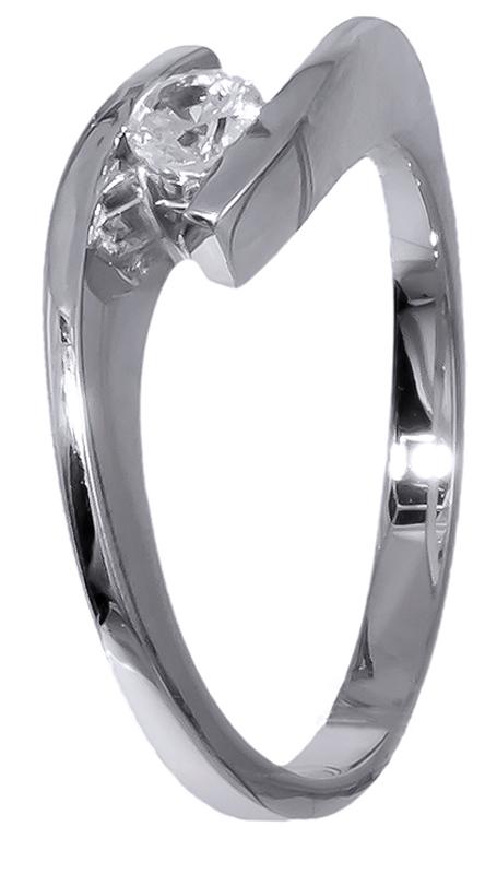 Δαχτυλίδι μονόπετρο λευκόχρυσο 14 Καρατίων για αρραβώνα D020699 ... 60067a415f0