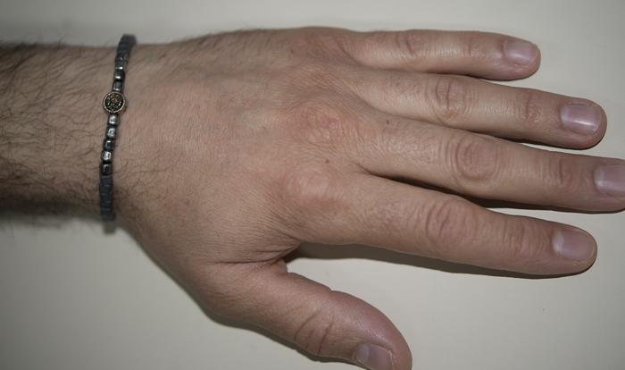Αντρικό βραχιόλι Ascot με χάντρες και άγκυρα BG 9075 - Dimasis.gr 7de3db5dfef